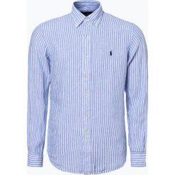 Koszule męskie na spinki: Polo Ralph Lauren - Męska koszula lniana, niebieski