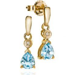 Kolczyki damskie: PROMOCJA Kolczyki Złote – złoto żółte 585, Diament 0,01ct…