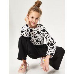 Bluzki dziewczęce: Bluzka we wzory - Biały