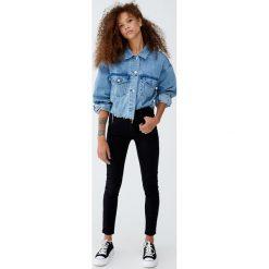 Jeansy comfy fit. Czarne jeansy damskie relaxed fit Pull&Bear. Za 79,90 zł.