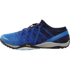 Merrell TRAIL GLOVE 4  Obuwie do biegania Szlak navy. Niebieskie buty do biegania męskie Merrell, z materiału. W wyprzedaży za 471,20 zł.
