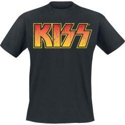Kiss Distressed Logotype T-Shirt czarny. Czarne t-shirty męskie z nadrukiem marki Kiss, l. Za 89,90 zł.