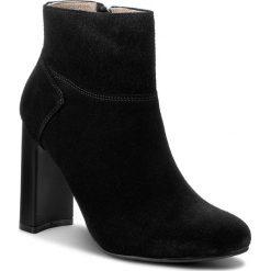 Botki KARINO - 1470/003-P Czarny. Fioletowe buty zimowe damskie marki Karino, ze skóry. W wyprzedaży za 189,00 zł.