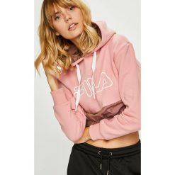 Fila - Bluza. Różowe bluzy z kapturem damskie marki Fila, l, z nadrukiem, z bawełny. Za 369,90 zł.