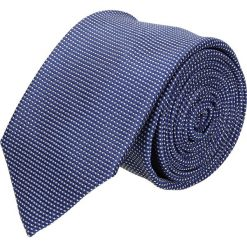 Krawaty męskie: krawat platinum granatowy classic 232