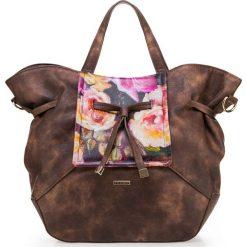Torebka damska 85-4Y-504-5. Brązowe torebki klasyczne damskie Wittchen, w kwiaty. Za 159,00 zł.