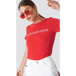 T-shirty damskie: Calvin Klein T-shirt Institutional Logo Slim Fit - Red