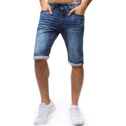 Bermudy męskie: Spodenki męskie denim look niebieskie (sx0662)