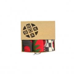 Box Pomidorowy - Skarpetki. Brązowe skarpetki męskie Sox in the box, z bawełny. Za 80,00 zł.