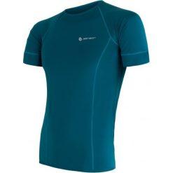 Sensor Koszulka Męska Coolmax Fresh Blue  M. Niebieskie odzież termoaktywna męska marki Oakley, na lato, z bawełny, eleganckie. W wyprzedaży za 119,00 zł.