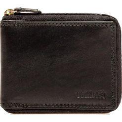 Portfele damskie: Skórzany portfel w kolorze czarnym - 9 x 11 x 1,5 cm