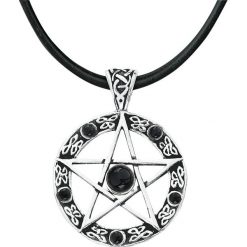 Łańcuszki męskie: etNox Magic and Mystic Black Pentagram Wisiorek + Rzemyk standard