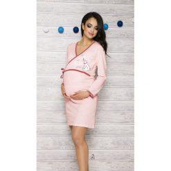 Koszula damska 113 Asia 002 brzoskwiniowa r. L. Pomarańczowe bluzki ciążowe Taro, l, moda ciążowa. Za 62,50 zł.