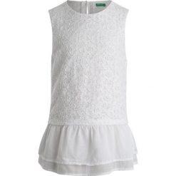 Bluzki dziewczęce bawełniane: Benetton BLOUSE Bluzka white