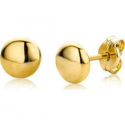 Złote kolczyki-wkrętki. Żółte kolczyki damskie REVONI, złote. W wyprzedaży za 172,95 zł.