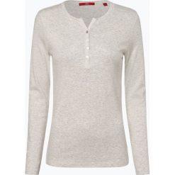 S.Oliver Casual - Damska koszulka z długim rękawem, beżowy. Brązowe t-shirty damskie s.Oliver Casual, s, z kołnierzem typu henley. Za 59,95 zł.