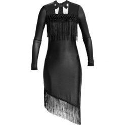 Sukienki hiszpanki: YAS YASCAMILLE FRINGE Sukienka z dżerseju black