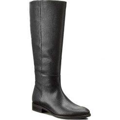 Oficerki GINO ROSSI - Miwa DKH124-S95-QZ00-9900-F 99. Czarne buty zimowe damskie marki Gino Rossi, z materiału, na obcasie. W wyprzedaży za 419,00 zł.
