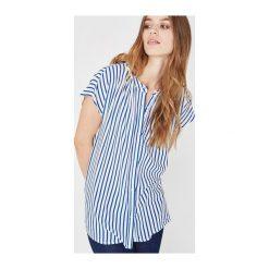Bluzka damska. Szare bluzki koszulowe marki Promod, z krótkim rękawem. Za 83,50 zł.