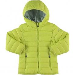 Kurtka zimowa w kolorze żółtym. Żółte kurtki dziewczęce przeciwdeszczowe marki CMP Kids, na zimę, z materiału. W wyprzedaży za 122,95 zł.