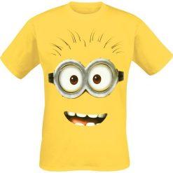 Minions Goggle Face T-Shirt żółty. Żółte t-shirty męskie Minions, l, z motywem z bajki. Za 74,90 zł.