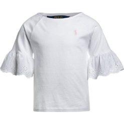Odzież damska: Polo Ralph Lauren RUFFLE  Tshirt z nadrukiem white