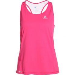 Salomon AGILE Koszulka sportowa pink yarrow. Czerwone t-shirty damskie Salomon, xs, z poliesteru. Za 129,00 zł.