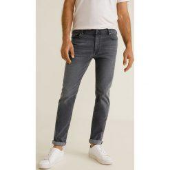 Mango Man - Jeansy Jan3. Szare jeansy męskie Mango Man, z aplikacjami, z bawełny. Za 139,90 zł.