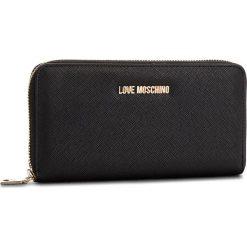 Duży Portfel Damski LOVE MOSCHINO - JC5552PP16LQ0000  Nero. Czarne portfele damskie marki Love Moschino, ze skóry ekologicznej. Za 369,00 zł.