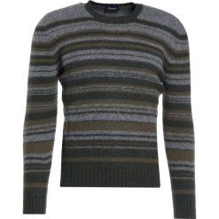 Drumohr GIROCOLLO RIGA Sweter grey. Białe swetry klasyczne męskie marki Bambi, l, z nadrukiem, z okrągłym kołnierzem. W wyprzedaży za 697,95 zł.