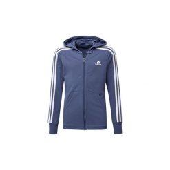 Bluzy dresowe Dziecko adidas  Bluza z kapturem Essentials 3-Stripes Hoodie. Niebieskie bluzy chłopięce rozpinane marki Adidas, z dresówki. Za 199,00 zł.
