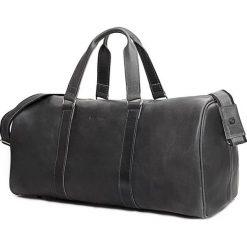 Torby na ramię męskie: CORTEZ Grafitowa męska torba ze skóry Podróżna smooth leather