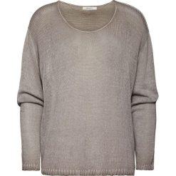 Sweter w kolorze szarobrązowym. Szare swetry klasyczne damskie marki Vila, l, z dzianiny, z okrągłym kołnierzem. W wyprzedaży za 152,95 zł.