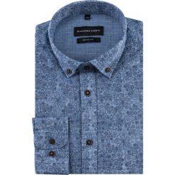 Koszula SIMONE KDNR000539. Niebieskie koszule męskie na spinki Giacomo Conti, m, button down, z długim rękawem. Za 169,00 zł.