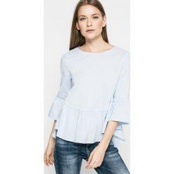 Answear - Bluzka Blossom Mood. Szare bluzki asymetryczne ANSWEAR, l, z bawełny, eleganckie, z okrągłym kołnierzem. W wyprzedaży za 59,90 zł.