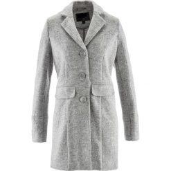 Płaszcze damskie: Krótki płaszcz wełniany bonprix jasnoszary melanż