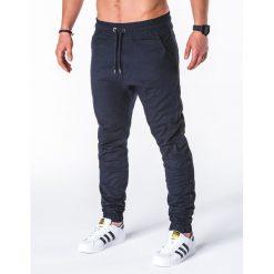 SPODNIE MĘSKIE JOGGERY P670 - GRANATOWE. Niebieskie joggery męskie Ombre Clothing. Za 75,00 zł.