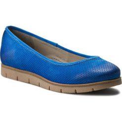 Półbuty EDEO - 3053-670DZ/670 Niebieski. Niebieskie creepersy damskie Edeo, z nubiku, na płaskiej podeszwie. W wyprzedaży za 169,00 zł.