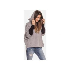 Ciepła szara bluza kangurka damska z kapturem. Szare bluzy rozpinane damskie Bien fashion, l, z bawełny, z długim rękawem, długie, z kapturem. Za 169,00 zł.