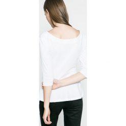 Answear - Bluzka Ur Your Only Limit. Szare bluzki z odkrytymi ramionami marki ANSWEAR, l, z bawełny, casualowe, z dekoltem w łódkę. W wyprzedaży za 39,90 zł.
