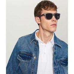 Okulary przeciwsłoneczne - Niebieski. Niebieskie okulary przeciwsłoneczne damskie lenonki Reserved. Za 39,99 zł.