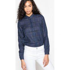 Bluzki, topy, tuniki: Tunika prosta kołnierz polo, koszulowy