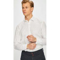 Pierre Cardin - Koszula. Szare koszule męskie na spinki marki Pierre Cardin, z bawełny, z klasycznym kołnierzykiem, z długim rękawem. W wyprzedaży za 259,90 zł.