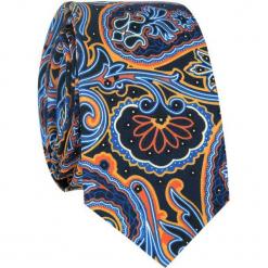 Jedwabny krawat KWWR007013. Szare krawaty męskie Giacomo Conti, z jedwabiu. Za 169,00 zł.