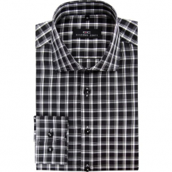 Koszula RICCARDO 15-02-01-K. Czarne koszule męskie na spinki marki Premium by Jack&Jones, l, z bawełny, z włoskim kołnierzykiem, z długim rękawem. Za 229,00 zł.