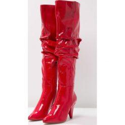 Miss Selfridge KASEY Muszkieterki red. Czerwone buty zimowe damskie marki Miss Selfridge, z materiału. W wyprzedaży za 215,40 zł.