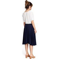 DOMINICA Spódnica rozkloszowana z gumką - granatowa. Niebieskie spódnice wieczorowe marki BE, l, w paski, midi, oversize. Za 129,99 zł.