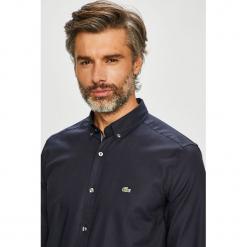 Lacoste - Koszula. Czarne koszule męskie na spinki Lacoste, l, z bawełny, button down, z długim rękawem. Za 449,90 zł.