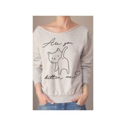 Are you kittin me szara bluza oversize z. Szare bluzy z nadrukiem damskie One mug a day, s, z bawełny. Za 129,00 zł.