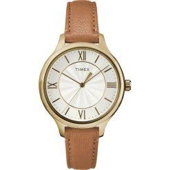 Zegarek Timex Damski  TW2R27900 Peyton Gold brązowy. Brązowe zegarki damskie Timex. Za 272,99 zł.